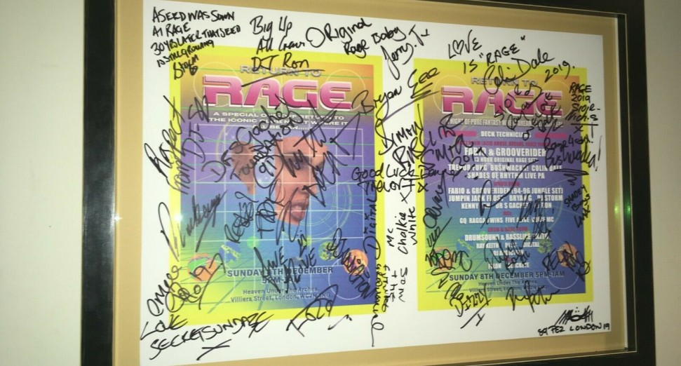 Signed Rage poster goes up for auction to raise funds for medical treatment